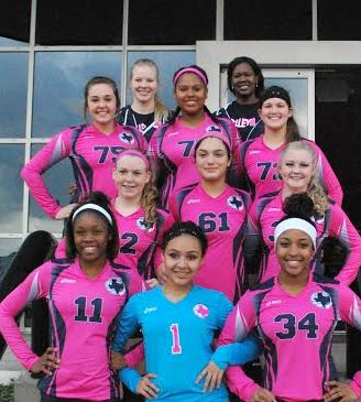 Coach Helen and Coach Tori with 16's Elite Team